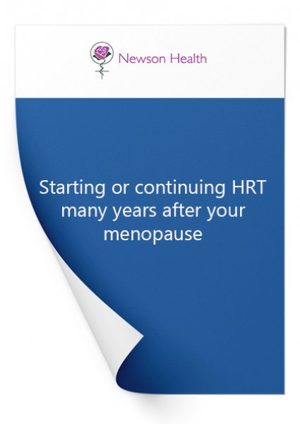 Starting or continuing HRT many years after menopause