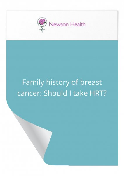 Family history of breast cancer: Should I take HRT?