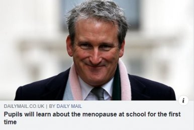 Government adds menopause to sex education classes