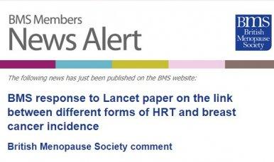 Sensationalised report on increased breast cancer risk concentrates on older HRT & ignores proven benefits