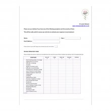 Menopause Symptom Sheet