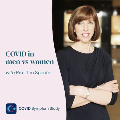 Dr Louise Newson Joins Prof Tim Spector for Webinar on COVID-19