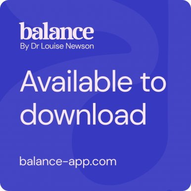 It's here! - balance - the new menopause app that's designed to empower