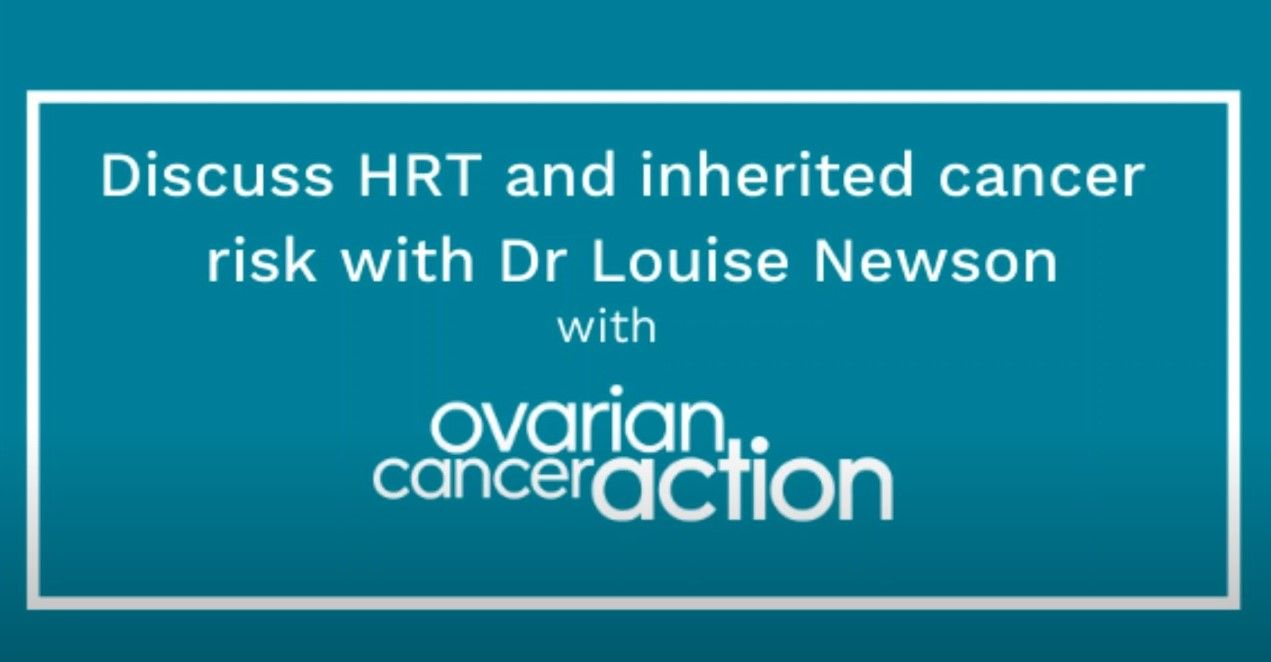 Hrt Q A With Ovarian Cancer Action Uk Newson Health