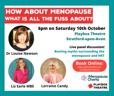 Dr Louise Newson to Host Live Menopause Event at Playbox Theatre