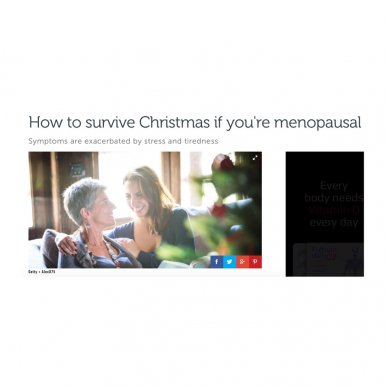 How to survive Christmas if you are menopausal