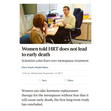 Taking HRT Does Not Increase Risk of Death