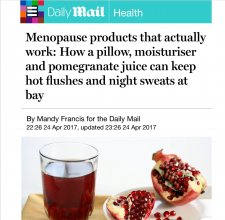 Products which may help menopausal women