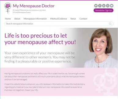 Dr Louise Newson launches re-branded My Menopause Doctor website