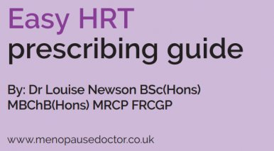 New guide issued to help healthcare professionals prescribe HRT more easily