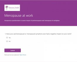 Menopause Questionnaire - Dr Louise Newson